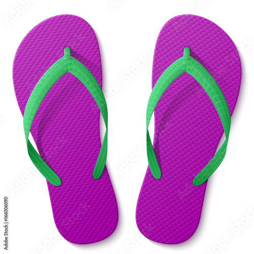 49560fd7cb6d Flip flops isolated on white background. Beach sandals