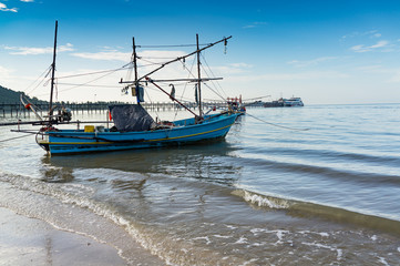 fishing boat in the sea in Thailand, south of Thailand
