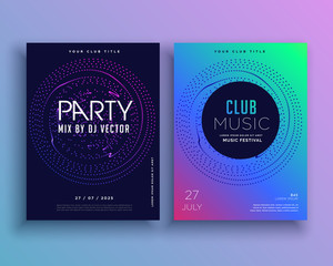 music club party flyer template design vector
