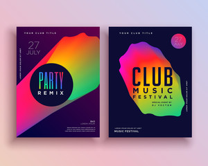 vibrant music party flyer template design