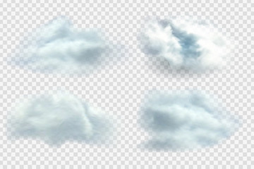 Vector realistic isolated cloud on the transparent background.