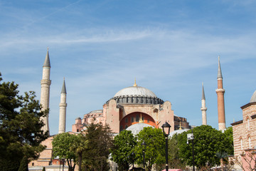 Hagia Sophia,  the world famous monument of Byzantine architecture