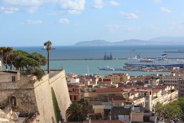 Panoramica città di Cagliari, vista da Castello.