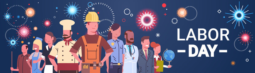 People Group Different Occupation Set, International Labor Day Flat Vector Illustration