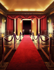 Red carpet entrance background