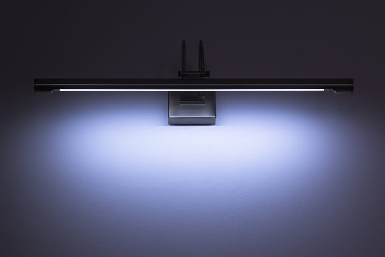 the luminescent lighting established on a wall