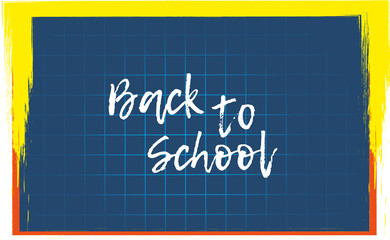 Design template Back to School for banner or poster. Vector