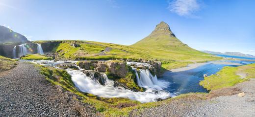 Island - Kirkjufell Wasserfall