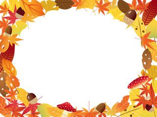 秋の紅葉 フレーム素材