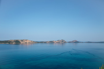 View of the region of Pylos , Peloponnese, Greece