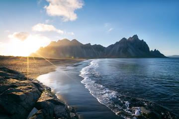 Island Stokksnes Sonnenaufgang