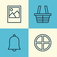 Network Icons Set. Collection Of Shop, Image, Positive And Other Elements. Also Includes Symbols Such As Trading, Alert, Plus.