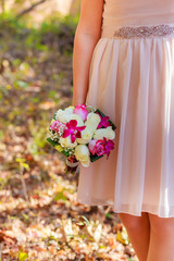 wedding bouquet colorful bridal