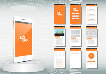 UI, UX for mobile application template