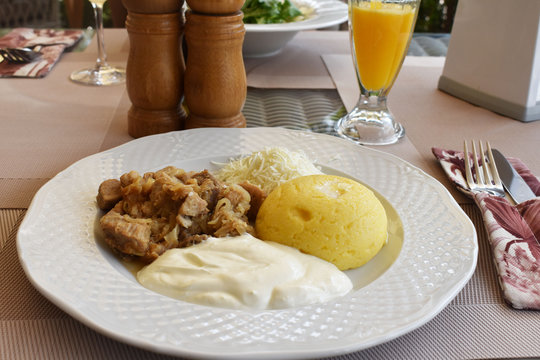 Mamaliga Traditional Food Kishinev Moldava Europe