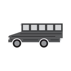 school bus flat icon vector illustration design