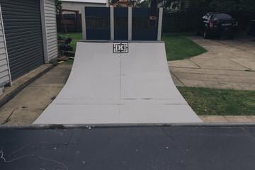 skateboard mini ramp half pipe garage mini scooter inline skates
