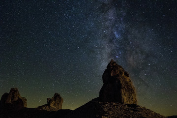 Milky Way and the California desert at Trona Pinnacles