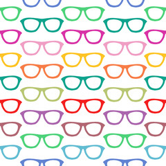 Seamless pattern with hand drawn glasses