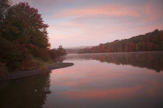 Colorful Sunrise over Frances Slocum Lake
