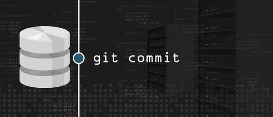 git commit programming coding server and database