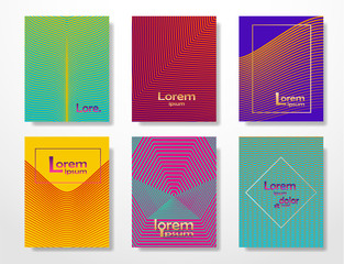 Abstract template collection. Vector set.