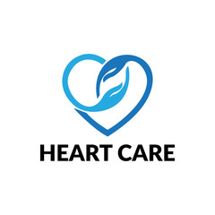 Logo for charity and care. Logo for the orphanage, elderly care. Give love