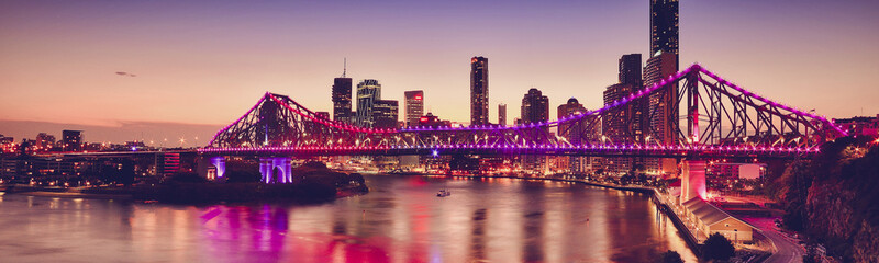 Iconic Story Bridge in Brisbane, Queensland, Australia.