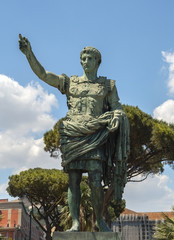 ancient statue of Gaius Julius Caesar in Naples