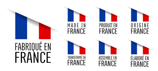 Made in France, fabriqué en France, origine France, élaboré en France, transformé en France, assemblé en France, origine France Fotomurales