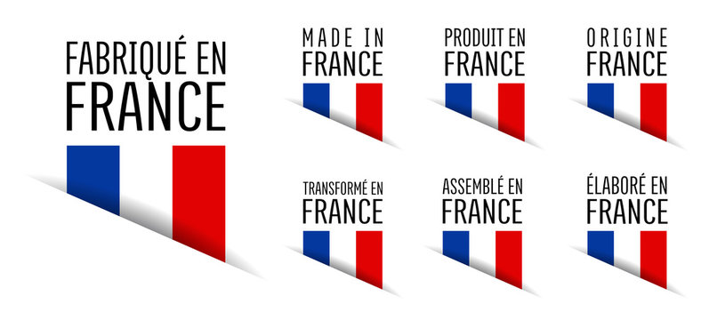 Made in France, fabriqué en France, origine France, élaboré en France, transformé en France, assemblé en France, origine France