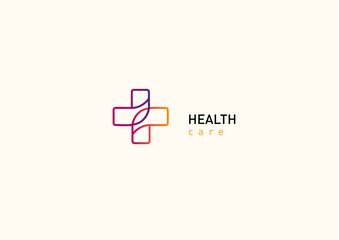 Bright logo on medicine and health, chat