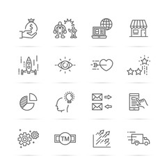 small business vector line icons