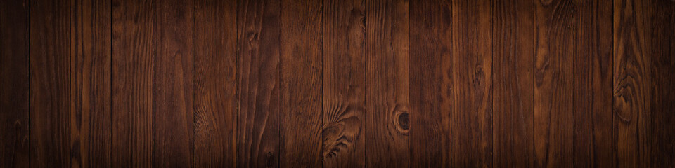 Dark wooden surface of a table or floor surface, gloomy wood texture Wall mural