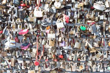 March 05, 2017. Locks of love in Odessa, Ukraine