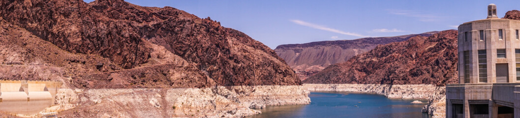 Lake Mead. The Hoover Dam