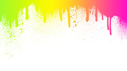 Mixed color splashes / graffiti isolated on white backround