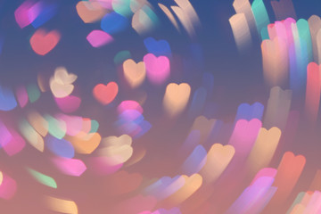 Bokeh hearts lights whirl romantic background pink blue 4