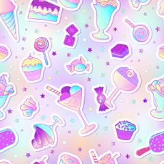 Pink seamless candy pattern