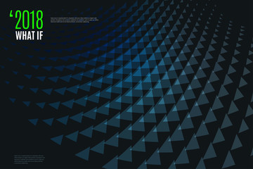 Abstract vector design background with triangles