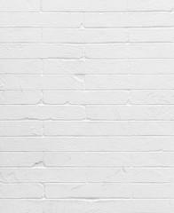 Blank concrete white brick wall.