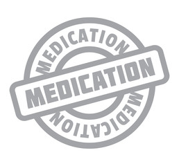 Medication rubber stamp. Grunge design with dust scratches. Effects can be easily removed for a clean, crisp look. Color is easily changed.