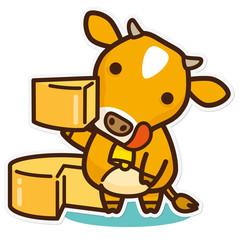 牛と乳製品 チーズ