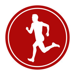 sports sign icon man sprinter runner running