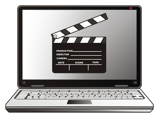 Computer, laptop, cartoon, illustration, technology, technology, business, internet, office, Network, touch pad, system, movie, cinema