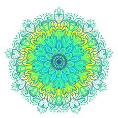 Vector ornamental mandala inspired ethnic art, patterned Indian paisley. Hand drawn illustration. Invitation element.