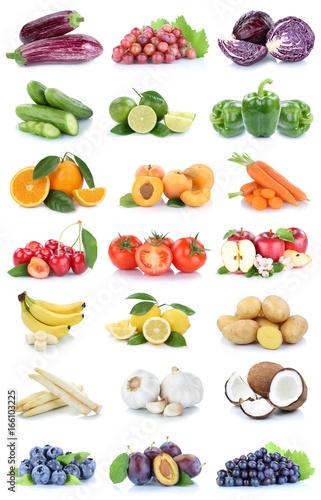 Obst und Gemüse Früchte Apfel Tomaten Bananen Orangen Zitrone Beeren ...