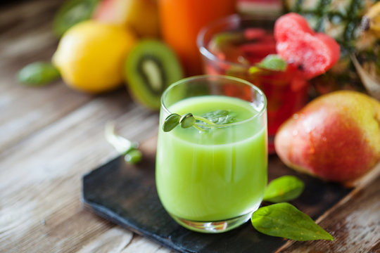 Assorted fresh fruit and vegetable juices