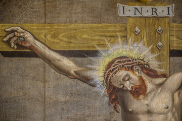 The crucifixion, an altarpiece  from 1613 by an unknown artist