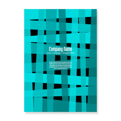 Design backdrop flyer. Turquoise intersecting tapes. Vector illustration.